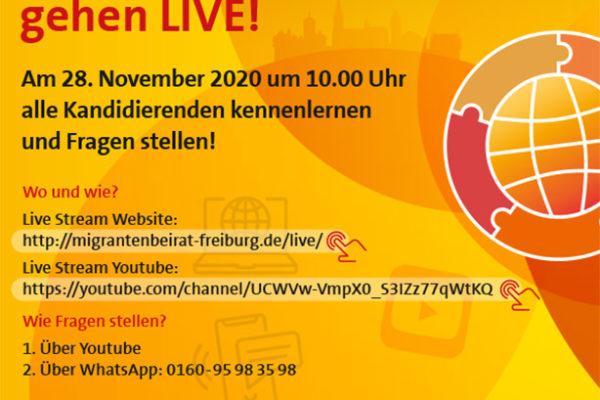 Neuwahl des Migrant_innenbeirats 2020 | Am 28.11. gehen die Kandidierenden LIVE – SPREAD THE NEWS
